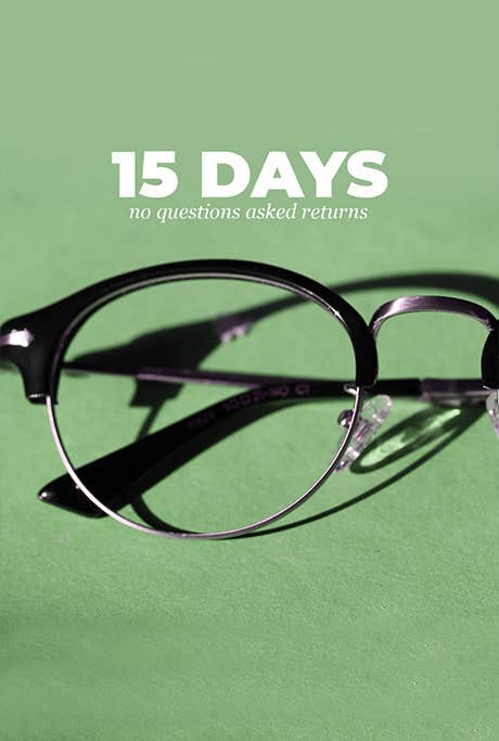 15 Days Return Policy - Eyeglasses PK