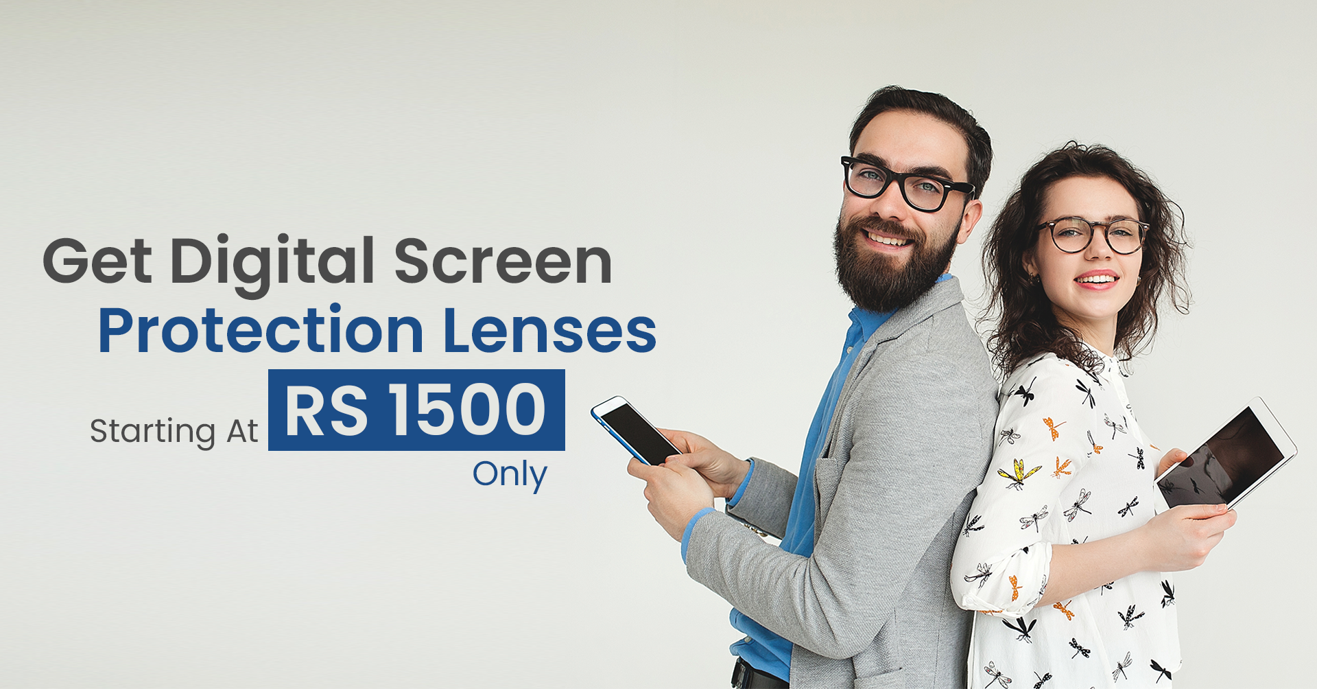 Get Blue Cut Digital Screen Protection Lenses - Eyeglasses.pk