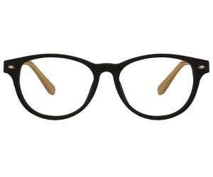 Wood Rectangle Eyeglasses 128816-c