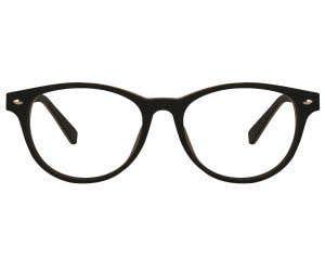 Wood Round Eyeglasses 128844-c