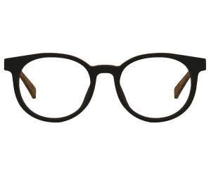 Wood Round Eyeglasses 128868-c