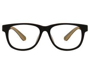 Wood Rectangle Eyeglasses 128878-c