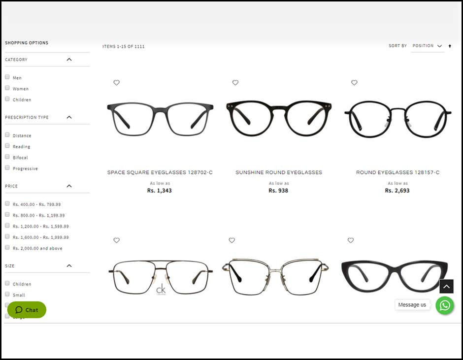 USE FILTERS TO SEARCH THE BEST FRAMES FOR YOUR FACE