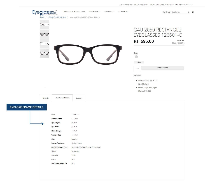 Explore Frame Details