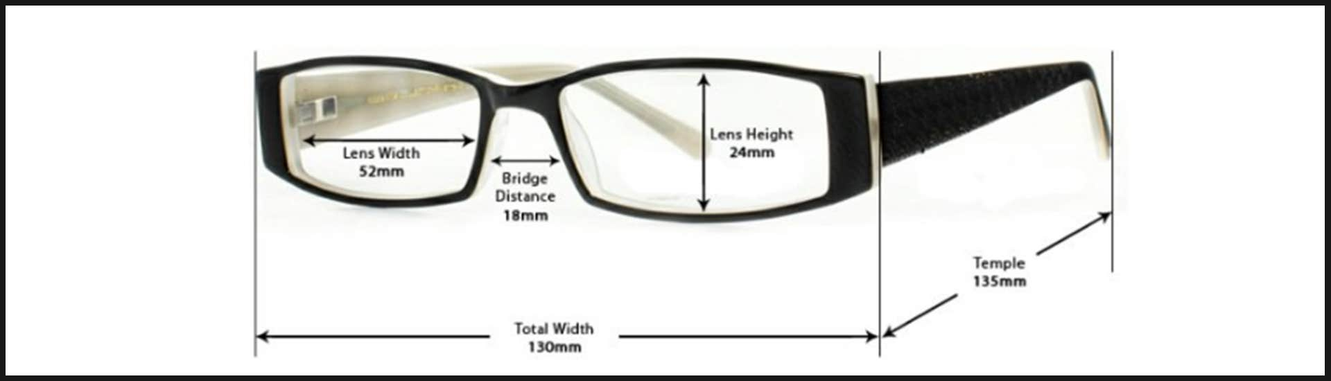 fdedb23fcc58 It is very vital to know that these sizes are printed on the inside behind  the nose bridge of your eyeglass temples area.