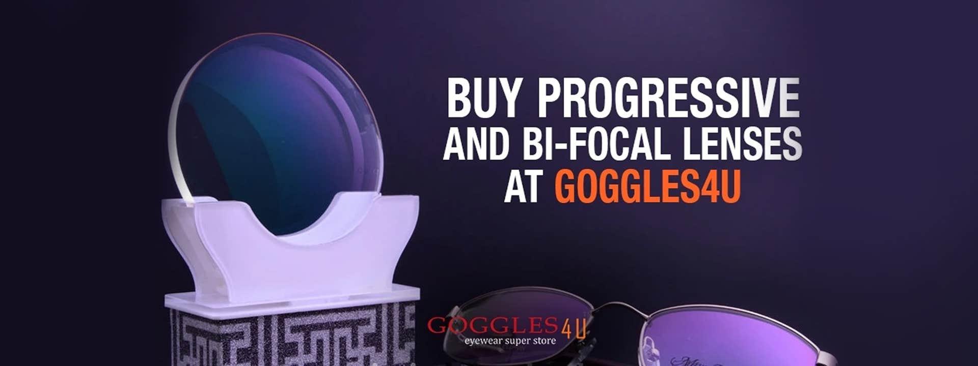 Buy Distance, Reading, Progressive and Bi-Focal Lenses at Goggles4U