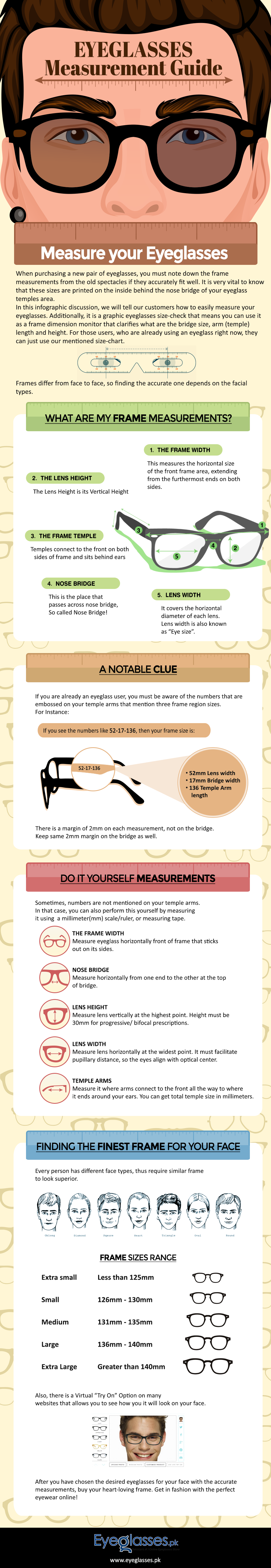 Eyeglasses Measurement Guide